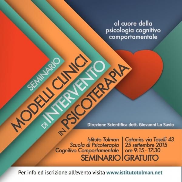 Seminario Modelli Clinici di Intervento - Catania