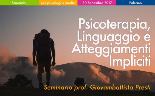 Seminario Psicoterapia, Linguaggio e Atteggiamenti Impliciti
