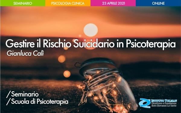 Seminario Gestire il Rischio Suicidario in Psicoterapia
