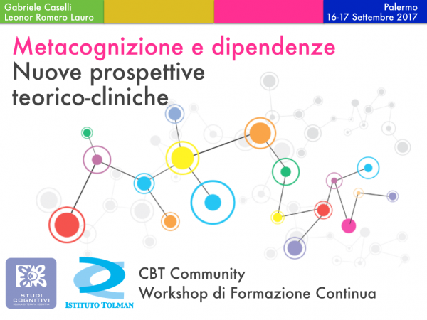 Workshop Metacognizioni e Dipendenze Patologiche