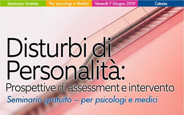 Seminario Disturbi di personalità: Prospettive di assessment e intervento
